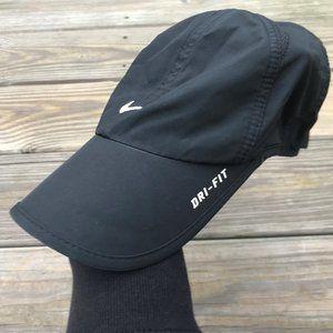 Nike Dri-Fit Hat Black Cap Women Sport FeatherLigh